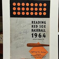 1964 Red Sox Spring Training  Program -25 Signatures W/ Early Tony Conigliaro!!