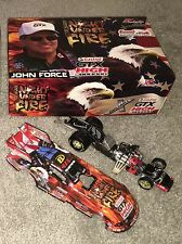 JOHN FORCE NIGHT UNDER FIRE 2007 FUNNY CAR AUTOGRAPHED at NORWALK RACEWAY 1/1500