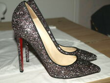 CHRISTIAN LOUBOUTIN PIGALLE GLITTER SHOES SIZE 39.5 UK 6.5