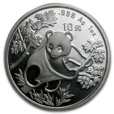 1992 China 1 oz Silver Panda Large Date BU (Sealed) - SKU #10171