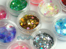 12 Colors 4mm Nail Art Spangles Glitter acrylic system Decoration #S167