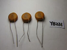 VINTAGE ELECTRONIC CAPACITOR NOS LOT OF 3 Z5U CERAMIC DISC 6 KV 180 M