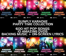 PARTY TIME VOL 1 TO 10  SUNFLY KARAOKE DVD - 600 HIT SONGS