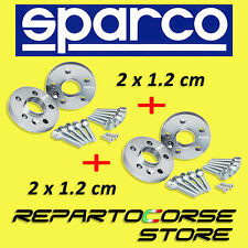 KIT 4 DISTANZIALI SPARCO 12 mm CON BULLONI - FIAT 500 ABARTH Esseesse 180cv