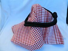 Egyptian Cotton Arabic Red Keffiyeh Black Ekhal Head wear Shall Scarf
