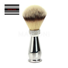 Synthetic badger silver tip style shaving brush stainless steel handle England