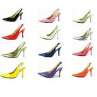 US5-10 NWT Candy Patent Leather pointy toe Sandal fashion womens slingback shoes