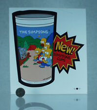 SIMPSON'S BURGER KING COLLECTOR CUPS STICKERS | 1990