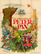 affiche PETER PAN - DISNEY - DESSIN ANIME