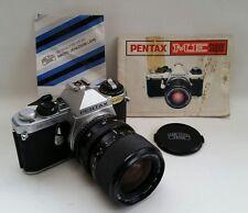 Vtg Pentax ME Super 35mm SLR Film Camera Zeiss Jena Zoom 35-70mm Lens + Manuals