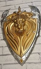 Wow world of warcraft l'alliance gold lion shield larp cosplay film mousse polyuréthane