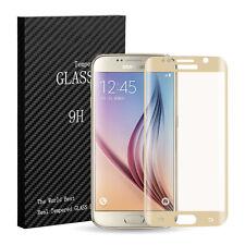 Gold 3D Panzerglas Für Samsung Galaxy S6 Edge Tempered Echt Glas Display Schutz