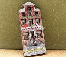 Souvenirs Shop, Amsterdam, Holland Netherlands Wooden Fridge Magnet Craft