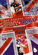 ROYAL NAVY v BRITISH ARMY 2011 RUGBY PROGRAMME at TWICKENHAM