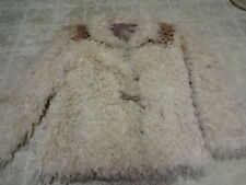 GREAT COND NOT MUCH USE VINTAGE 70'S GENUINE LONG CURLY LAMB FUR COAT SHEEPSKIN