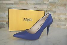 luxus FENDI Gr 39,5 Pumps High Heels Schuhe shoes blau blue neon NEU  UVP 495€
