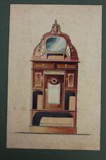 Vertiko Entwurf , Aquarell, Jugendstil, deutsch, um 1905