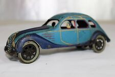 Antique 1930s PAYA SPAIN WIND UP TIN LITHO TOY  AIRFLOW CAR No Bing Tippco