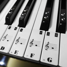 88 KEY transparent Keyboard Piano stave Stickers for 36 black and 52 white keys