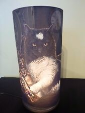 Times Up lamp-Lisa Parker 27.5 cm H. NEW from Nemesis Now. Black Cat