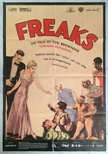 MANIFESTO  ORIGINALE 2F FREAKS  TOD BROWNING CULT MOVIE MACABRO HORROR OTTIMO !!