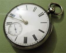 Antique Victorian Solid Silver Thomas Russell & Son Fusee Fob Pocket Watch 1880