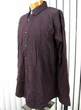 APT 9 NWT LONG SLEEVE SHIRT SIZE XXL, BLACK AND RED STRIPED