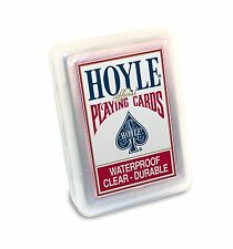 Hoyle Clear Plastic Playing Cards- Waterproof, Clear-Durable!; plastic case, New