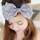 Toddler Kids Baby Girls Lace Flower Bow Headband Hair Band Headwear Accessories
