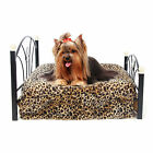 Pet Dog Bed Metal Frame Bed Puppy Dog Cat Cushion Kennel Included Mattress