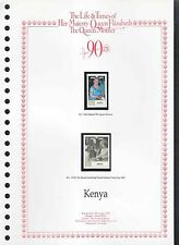 Kenya 1990 Queen Mothers, 90th Birthday MNH Set On Page #V208
