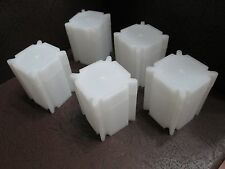 Lot of Five Square Coin Storage Tubes for Half Dollars by CoinSafe