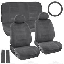 Car Seat Covers Encore Fabric 3mm Padded Low Back Original Charcoal