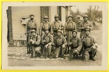cpa Carte Photo VERSAILLES MILITAIRES 2e Section d'Infanterie Fusil Camp Cantine