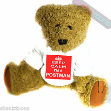 Keep Calm Postman Novelty Gift Teddy Bear