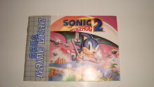 NOTICE SEGA GAME GEAR SONIC 2 THE HEDGEHOG