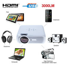 3000 Lumens HD Home Cinema Theater Multimedia LED/LCD Projector HDMI//VGA/AV/3D~