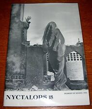 NYCTALOPS 18 H.P. LOVECRAFT THOMAS LIGOTTI HORROR FANZINE