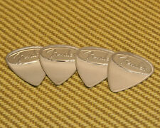 098-2351-800 (4) Fender Medium Stainless Steel Metal Guitar/Bass Picks USA Made
