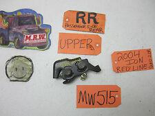 03 04 SATURN 2DR ION PASSENGER RIGHT R RH RR DOOR LATCH LOCK BACK REAR UPPER TOP