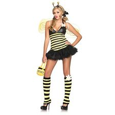 Bumble Bee Dress Daisy Sexy Womens Halloween Costume M/L