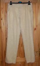BISON natural beige gold metallic Ramie linen chino cargo trousers 40 12-14 BNWT
