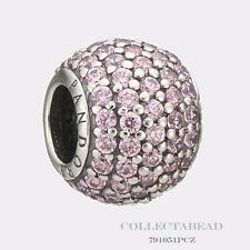 Authentic Pandora Sterling Silver Light Pink Pave Lights Bead  791051PCZ
