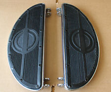 Harley 45 Panhead Floorboards Rubber Pads Rivited NEW Chrome Base Plate (915)