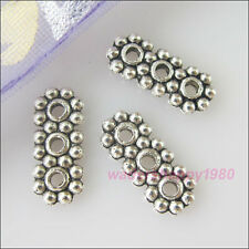 80Pcs New Tibetan Silver Charms 3-Hole Bar Spacer Beads for DIY Crafts 5.5x13mm
