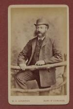Bury St. Edmunds. Gentleman bowler hat CDV photograph dc138