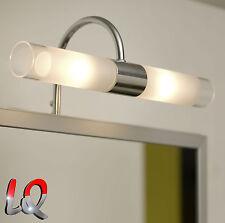 WANDLEUCHTE LAMPE BAD SPIEGELLEUCHTE BADLEUCHTE BADLAMPE Chrom Glas EGLO 85816