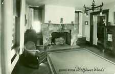 "Rome City,IN. The Living Room, "" Wildflower Woods"" rppc"