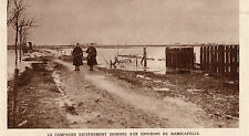 NIEUPORT NIEUWPOORT RAMSCAPELLE CAMPAGNE INNONDATION FLOOD IMAGE 1914 PRINT