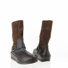 FitFlop DueBoot Biker Women's Shoes Brown Leather Motorcycle Boots Sz 7.5 M NEW!